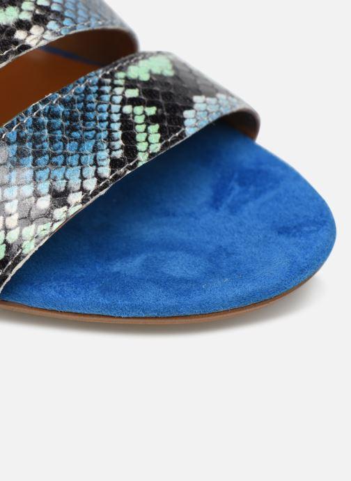 Zuecos Made by SARENZA Africa Vibes Mule #2 Azul vista lateral izquierda