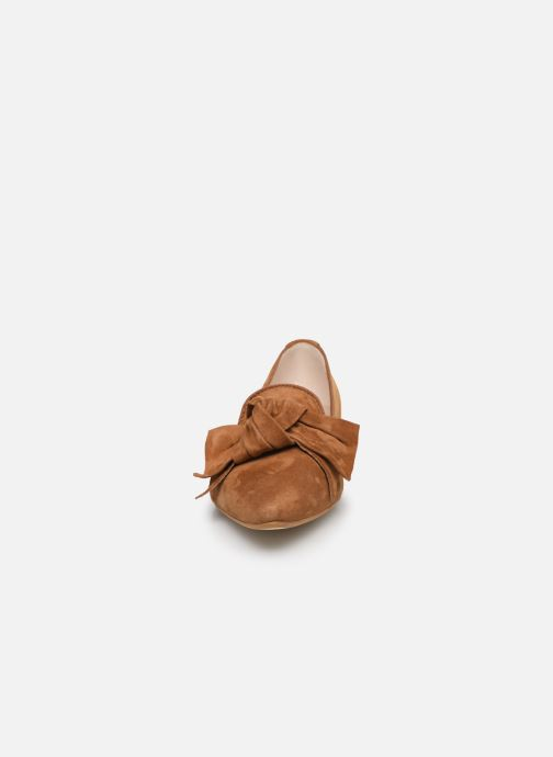 Mocassins Georgia Rose Lusino Marron vue portées chaussures