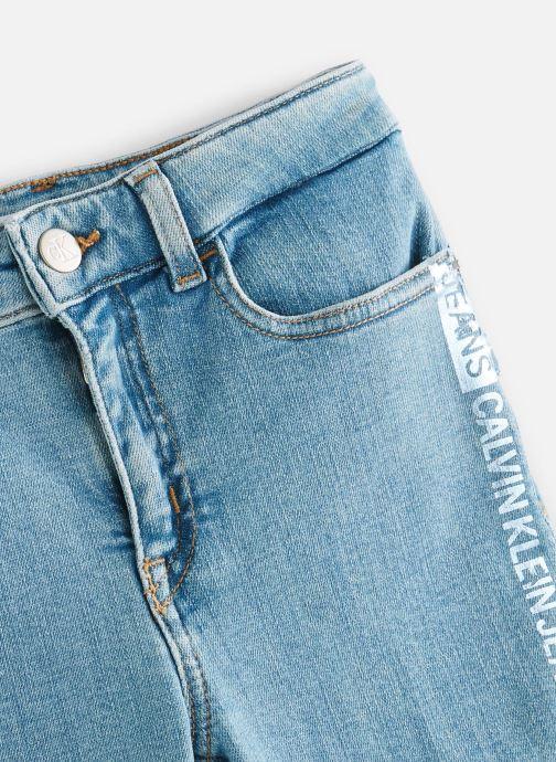Vêtements Calvin Klein Jean Skinny Hr Pine Foil Bl Str Bleu vue portées chaussures