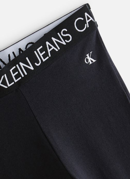 Vêtements Calvin Klein Pantalon Logo Waistband Flare Legging Noir vue portées chaussures