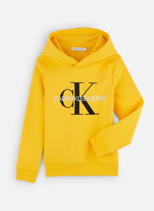 Vêtements Calvin Klein Sweatshirt Monogram Hoodie Jaune vue détail/paire