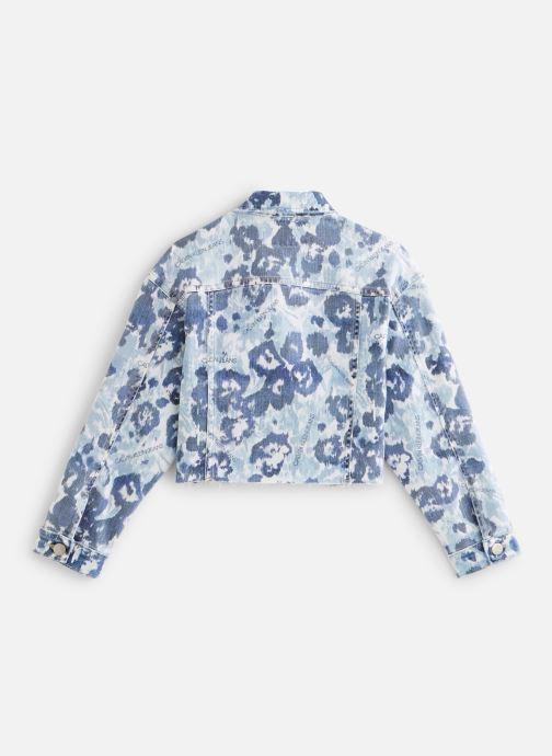 Vêtements Calvin Klein Veste Jacket Girls W Flower Bl Com Bleu vue bas / vue portée sac