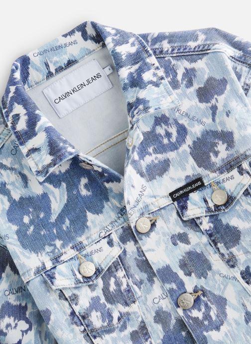 Vêtements Calvin Klein Veste Jacket Girls W Flower Bl Com Bleu vue portées chaussures