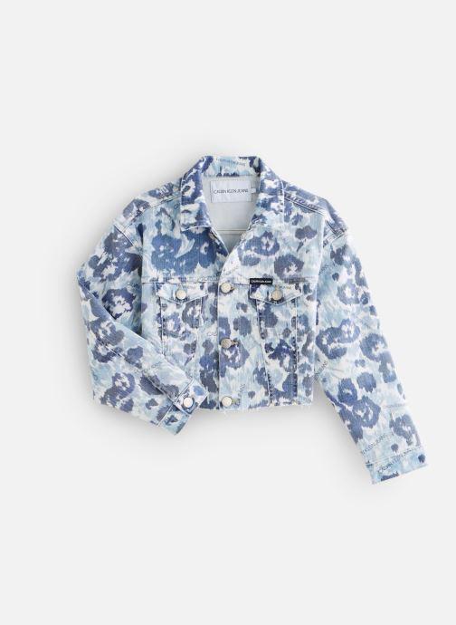 Vêtements Calvin Klein Veste Jacket Girls W Flower Bl Com Bleu vue détail/paire