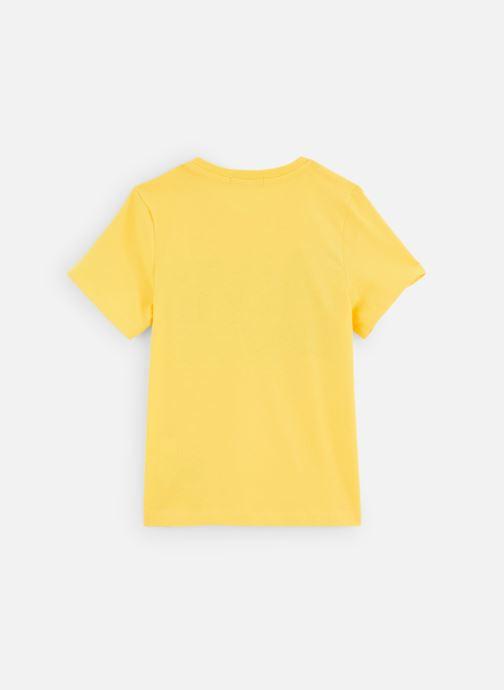 Vêtements Calvin Klein T-shirt Stamp Logo Ss Jaune vue bas / vue portée sac