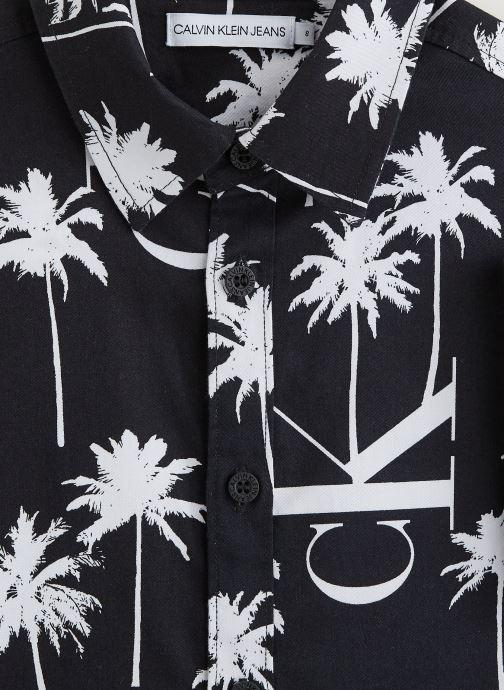 Kleding Calvin Klein Chemise Palm Aop Ss Zwart model