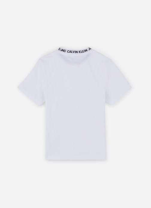 Vêtements Calvin Klein T-shirt Logo Intarsia Ss Blanc vue bas / vue portée sac