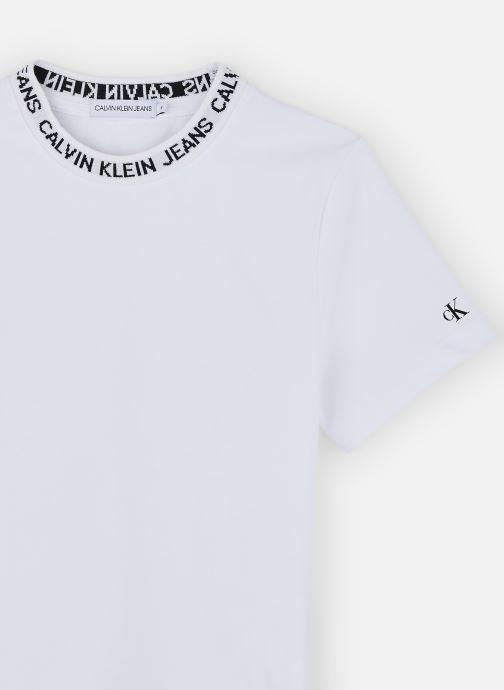 Vêtements Calvin Klein T-shirt Logo Intarsia Ss Blanc vue portées chaussures