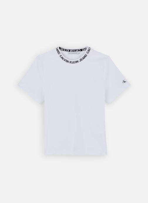 Vêtements Calvin Klein T-shirt Logo Intarsia Ss Blanc vue détail/paire