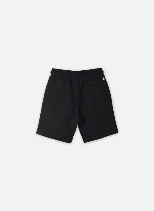 Vêtements Calvin Klein Bermuda Logo Intarsia Sweat Noir vue portées chaussures
