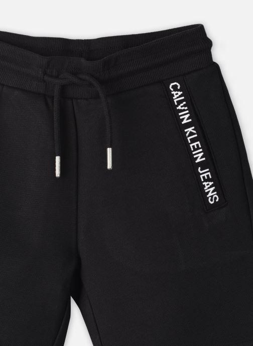 Vêtements Calvin Klein Bermuda Logo Intarsia Sweat Noir vue face