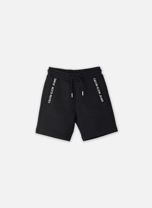Vêtements Calvin Klein Bermuda Logo Intarsia Sweat Noir vue détail/paire