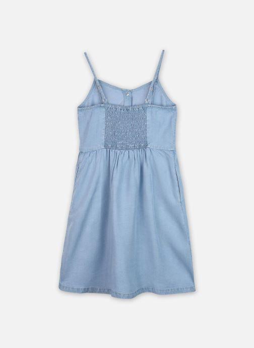 Vêtements Calvin Klein Robe mini Light Denim Strap Dress Bleu vue portées chaussures