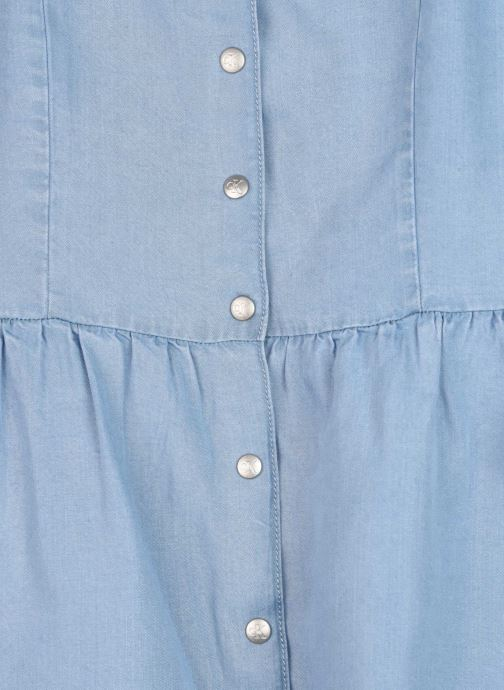 Vêtements Calvin Klein Robe mini Light Denim Strap Dress Bleu vue face