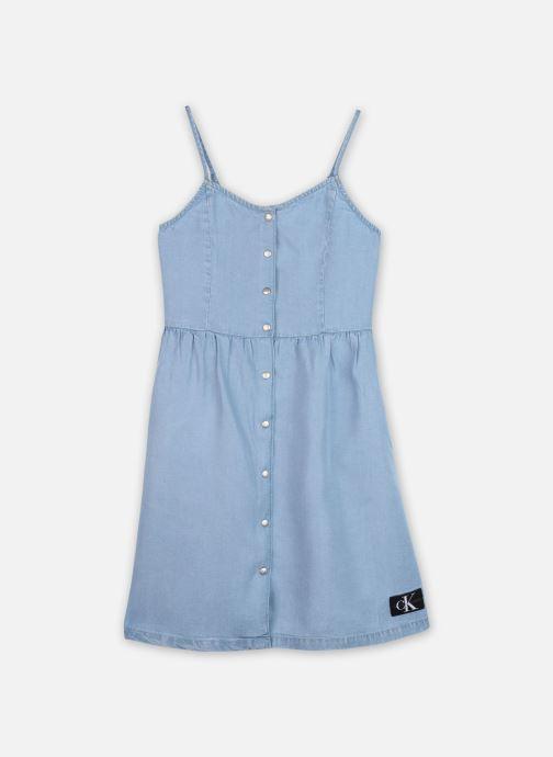 Vêtements Calvin Klein Robe mini Light Denim Strap Dress Bleu vue détail/paire