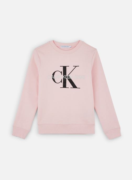 Vêtements Calvin Klein Sweatshirt Monogram Logo Rose vue détail/paire