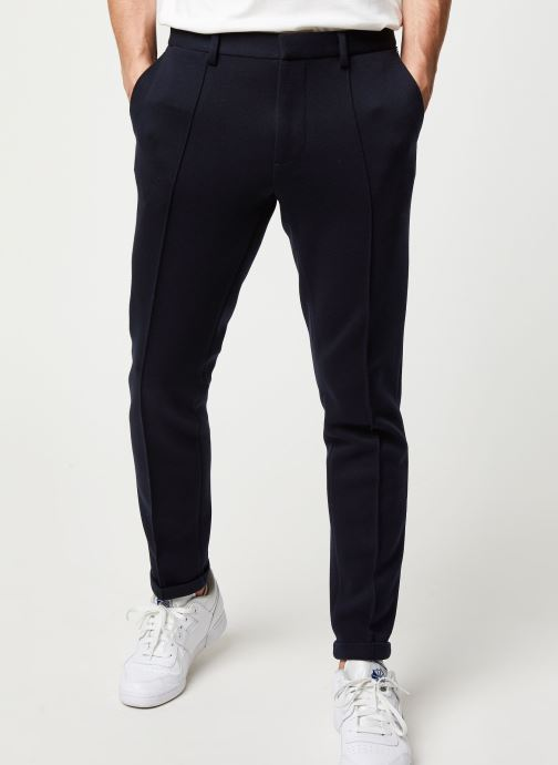 Pantalon - Ams Blauw chic sweat pant with pintuck