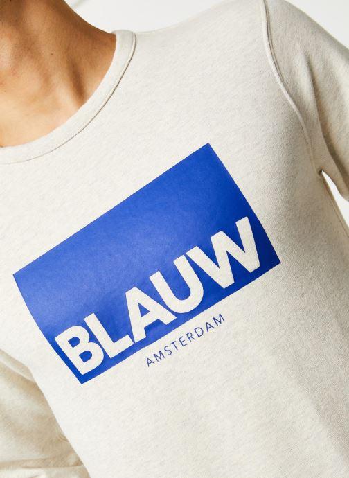 Vêtements Scotch & Soda Ams Blauw signature crew neck sweat Gris vue face