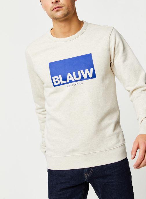Tøj Accessories Ams Blauw signature crew neck sweat