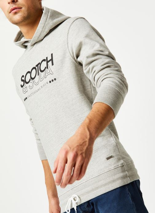 Vêtements Accessoires Hooded sweat with tonal print and Scotch & Soda artwork