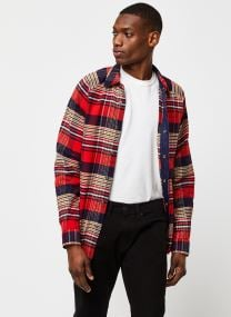 Vêtements Accessoires Long sleeve flannel check shirt with cut and sew