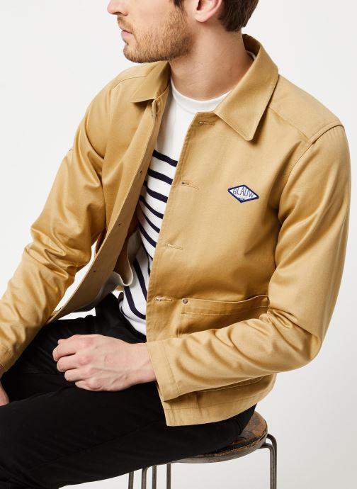 Ams Blauw classic workwear jacket in shiny twill