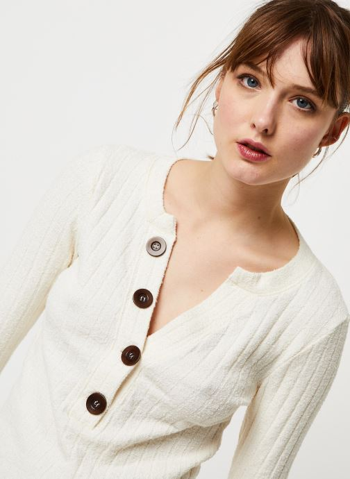 Vêtements Free People OLIVER HENLEY TEE Blanc vue face