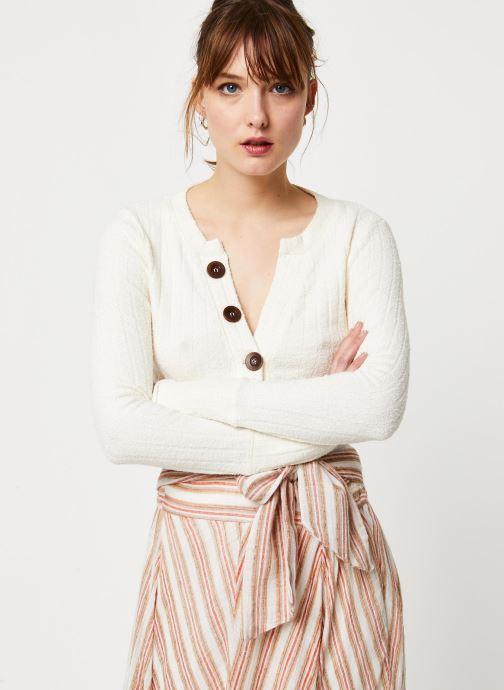 Vêtements Free People OLIVER HENLEY TEE Blanc vue détail/paire