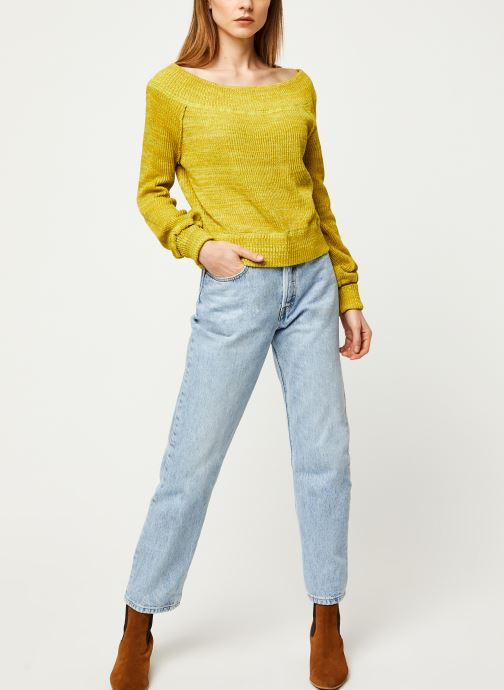 Vêtements Free People SUGAR RUSH SWEATER Jaune vue bas / vue portée sac