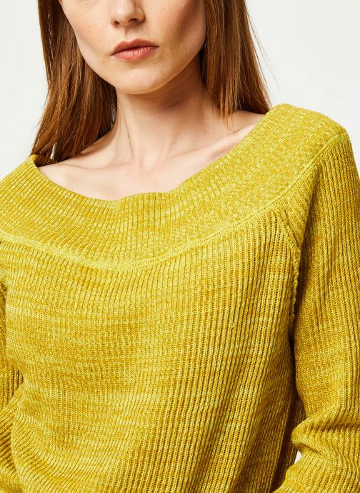 Vêtements Free People SUGAR RUSH SWEATER Jaune vue face