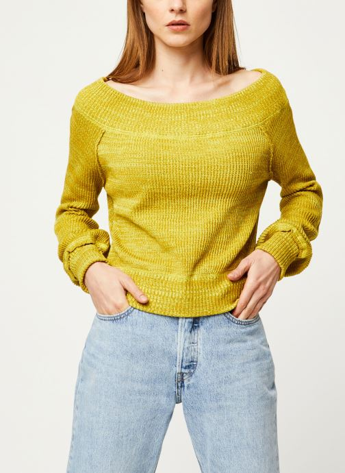 Vêtements Free People SUGAR RUSH SWEATER Jaune vue détail/paire
