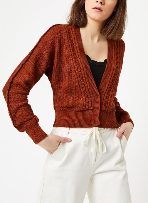 Vêtements Free People MOON RIVER CARDIGAN Marron vue droite