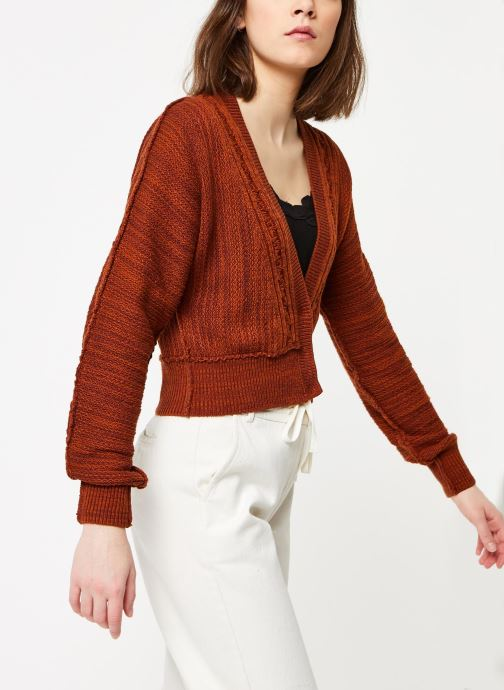 Vêtements Free People MOON RIVER CARDIGAN Marron vue détail/paire