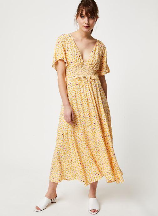 Vêtements Free People IN FULL BLOOM DRESS Jaune vue bas / vue portée sac