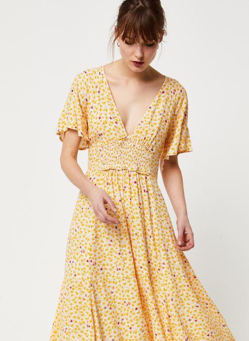 Vêtements Free People IN FULL BLOOM DRESS Jaune vue droite