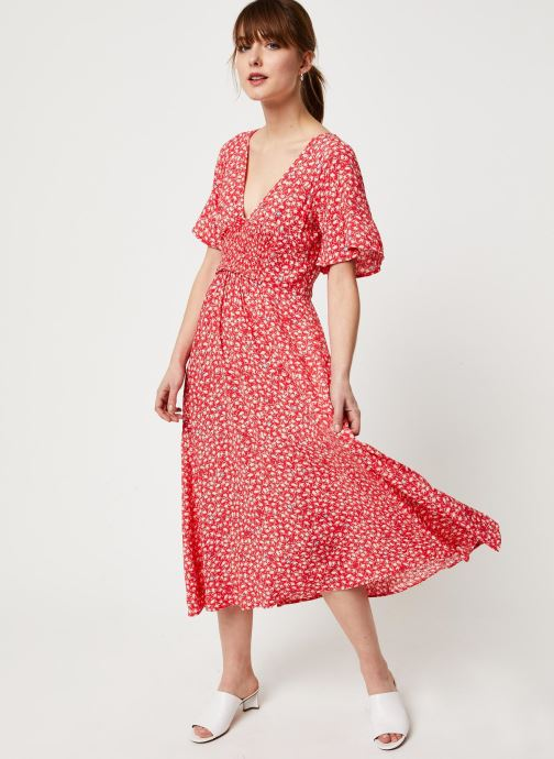 Vêtements Free People IN FULL BLOOM DRESS Rouge vue bas / vue portée sac