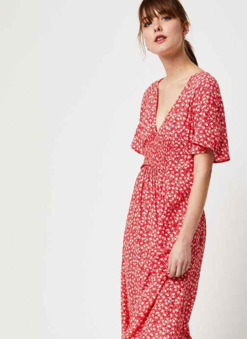 Vêtements Free People IN FULL BLOOM DRESS Rouge vue droite