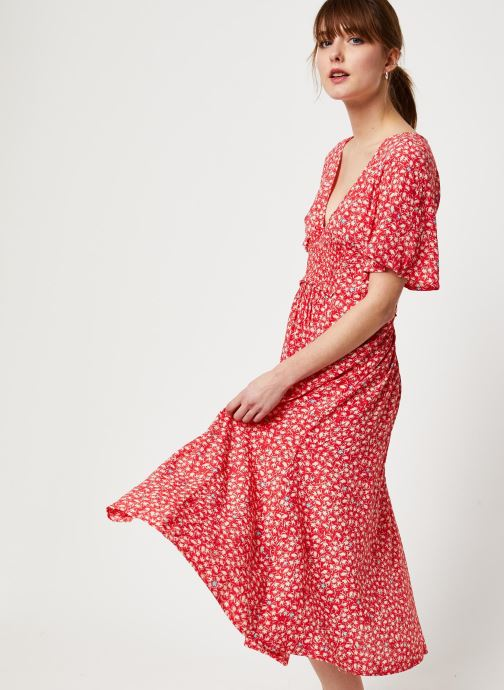 Vêtements Free People IN FULL BLOOM DRESS Rouge vue détail/paire