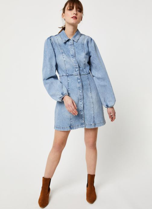Vêtements Free People MIA DENIM MINI DRESS Bleu vue bas / vue portée sac
