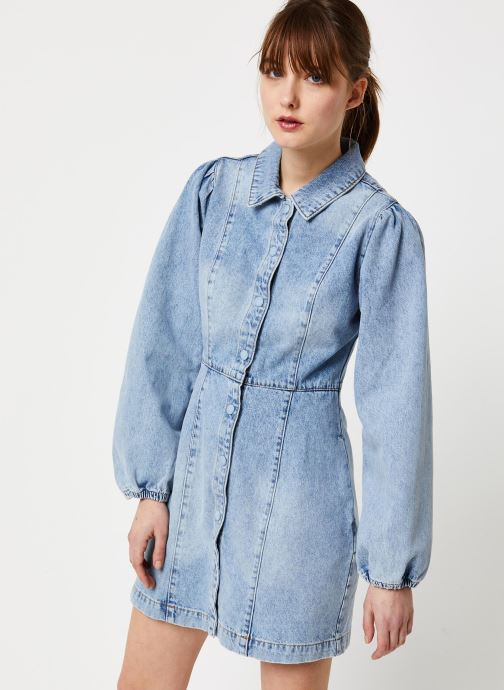 Vêtements Free People MIA DENIM MINI DRESS Bleu vue droite