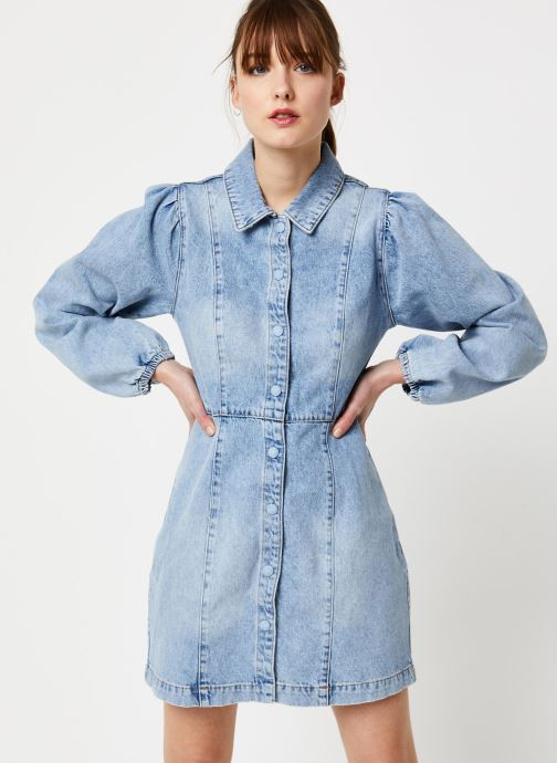 Robe chemise - Mia Denim Mini Dress