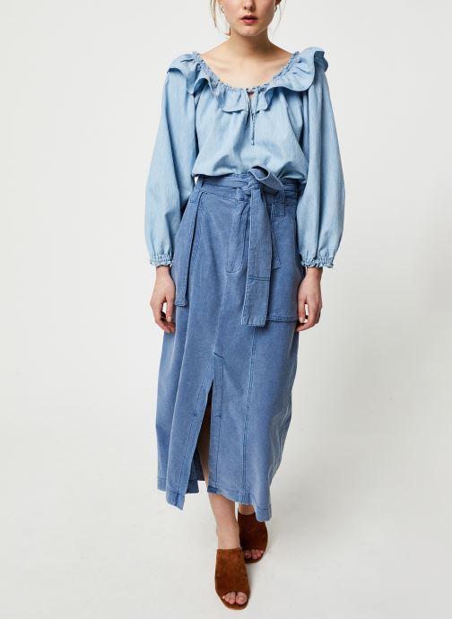 Vêtements Free People CATCHING FEELINGS SKIRT Bleu vue bas / vue portée sac