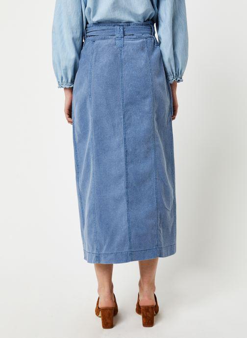 Vêtements Free People CATCHING FEELINGS SKIRT Bleu vue portées chaussures