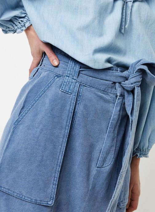 Vêtements Free People CATCHING FEELINGS SKIRT Bleu vue face