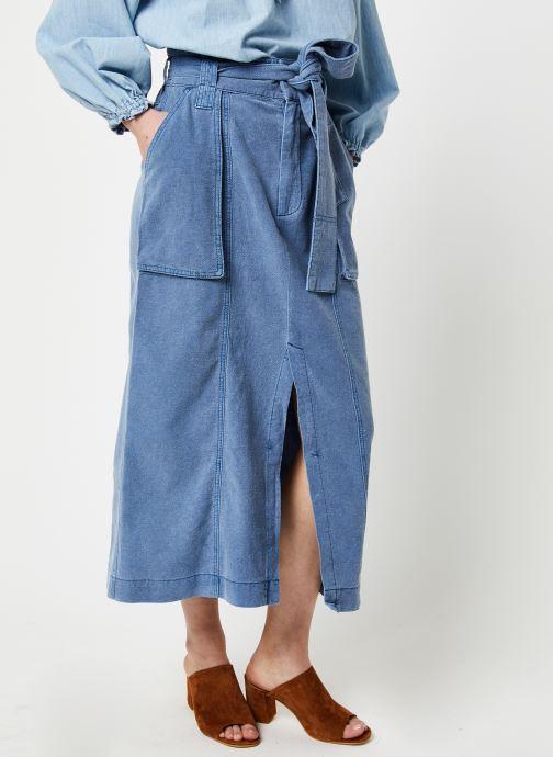 Vêtements Free People CATCHING FEELINGS SKIRT Bleu vue détail/paire