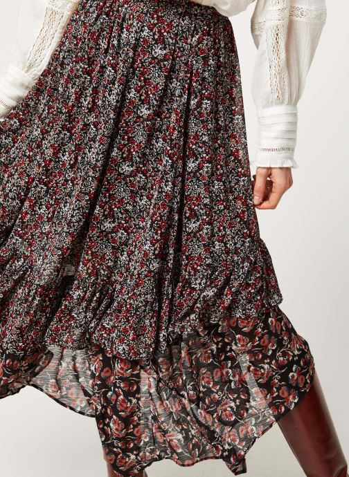 Vêtements Free People ZUMA DRIPPY RUFFLE SKIRT Noir vue face