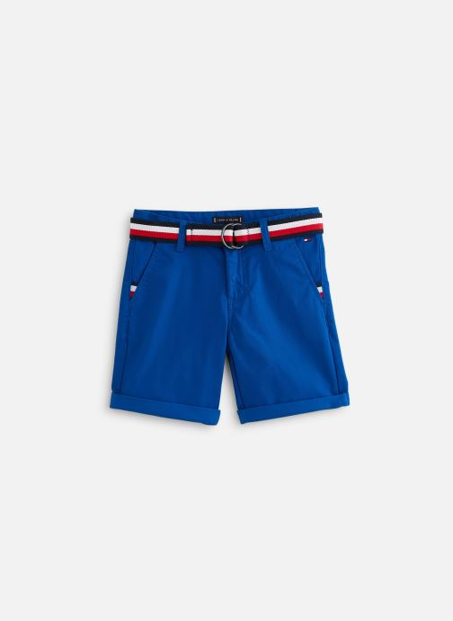 Vêtements Tommy Hilfiger Bermuda Essential Belted Chino Shorts Bleu vue détail/paire