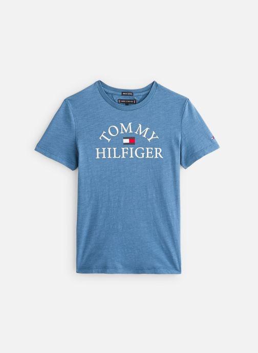 Vêtements Tommy Hilfiger T-shirt  Essential Logo Tee S/S Bleu vue détail/paire