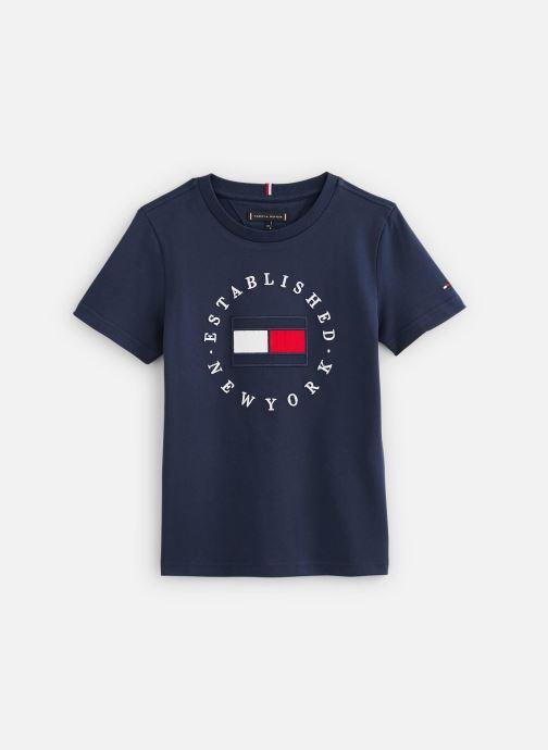 Vêtements Tommy Hilfiger T-shirt Th Flag Tee S/S Bleu vue détail/paire