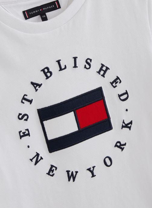 Kleding Tommy Hilfiger T-shirt Th Flag Tee S/S Wit model